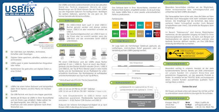 TRIVTEC USBfix Infoposter